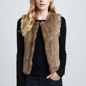 525 AMERICA Genuine Rabbit Fur Vest Natural {A47}